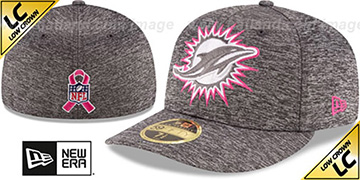 Dolphins 2016 LOW-CROWN BCA Grey Fitted Hat by New Era