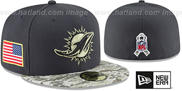 Dolphins '2016 SALUTE-TO-SERVICE' Grey-Desert Fitted Hat by New Era