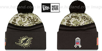 Dolphins '2016 SALUTE-TO-SERVICE' Knit Beanie Hat by New Era