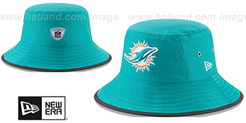 Dolphins '2017 NFL TRAINING BUCKET' Aqua Hat by New Era