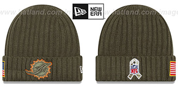 Dolphins 2017 SALUTE-TO-SERVICE Knit Beanie Hat by New Era