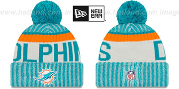 Dolphins 2017 STADIUM BEANIE Aqua Knit Hat by New Era