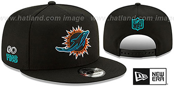 Dolphins 2020 NFL VIRTUAL DRAFT SNAPBACK Black Hat by New Era