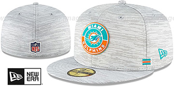 Dolphins 2020 ONFIELD STADIUM Heather Grey Fitted Hat by New Era