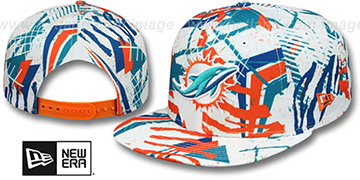 Dolphins 'GEOMET TRICK SNAPBACK' Hat by New Era