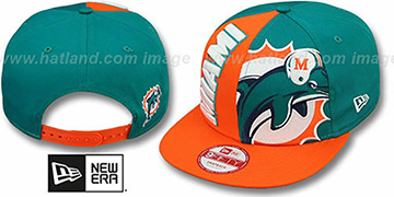 Dolphins NE-NC DOUBLE COVERAGE SNAPBACK Hat by New Era