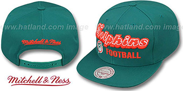 Dolphins 'NFL-BLOCKER SNAPBACK' Aqua Hat by Mitchell & Ness
