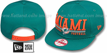 Dolphins 'NFL LATERAL SNAPBACK' Aqua Hat by New Era