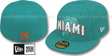 Dolphins 'NFL ONFIELD DRAFT' Aqua Fitted Hat by New Era