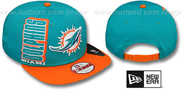 Dolphins 'RALLYMARK SNAPBACK' Aqua-Orange Hat by New Era
