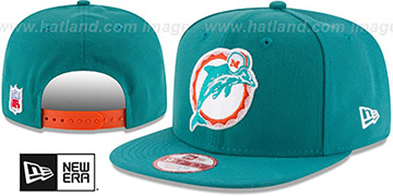 Dolphins 'RETRO-BASIC SNAPBACK' Aqua Hat by New Era