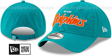 Dolphins RETRO-SCRIPT SNAPBACK Aqua Hat by New Era