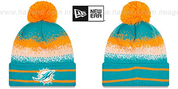 Dolphins SPEC-BLEND Knit Beanie Hat by New Era
