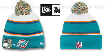 Dolphins 'STADIUM' Knit Beanie Hat by New Era