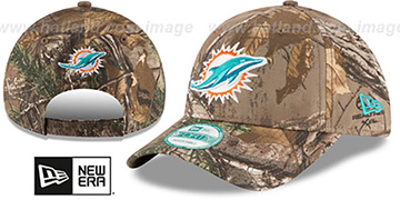 Dolphins 'THE LEAGUE REALTREE' Strapback Hat by New Era