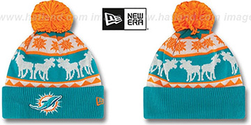 Dolphins THE-MOOSER Knit Beanie Hat by New Era