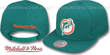 Dolphins 'THROWBACK-BASIC SNAPBACK' Aqua Hat by Mitchell and Ness