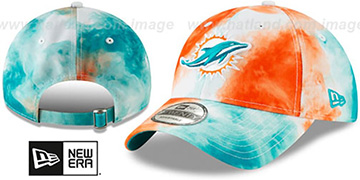 Dolphins TIE-DYE STRAPBACK Hat by New Era