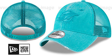 Dolphins 'TONAL-WASHED TRUCKER SNAPBACK' Aqua Hat by New Era