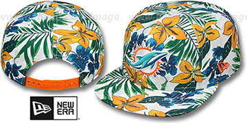 Dolphins TROPTRIP BLOOM SNAPBACK Hat by New Era