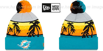 Dolphins 'WINTER BEACHIN' Knit Beanie Hat by New Era
