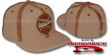 Domepiece 'BASEBALL LOGO' Wheat-Leather Hat