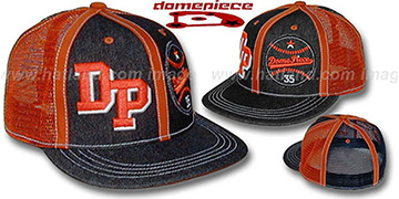 Domepiece 'DP-BASEBALL DUAL LOGO' Black-Orange Hat