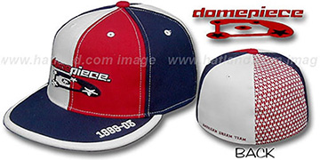 Domepiece 'TRADEMARK PINWHEEL' White-Red-Navy Hat