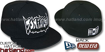 Dominican 'GRAFFITI' Black Fitted Hat by New Era