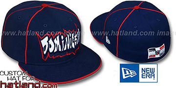 Dominican GRAFFITI PIPING-2 Navy Fitted Hat by New Era