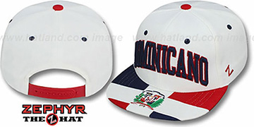 Dominicano 'SUPERSTAR SNAPBACK' White Hat by Zephyr