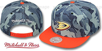 Ducks 'DENIM-CAMO SNAPBACK' Blue Hat by Mitchell and Ness