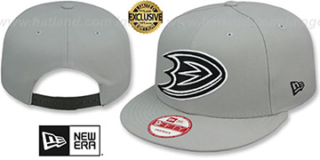 Ducks 'TEAM-BASIC SNAPBACK' Grey-Black Hat by New Era