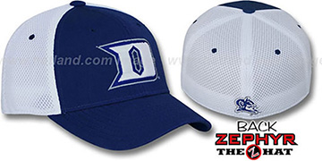 Duke 'SHORTSTOP' Fitted Hat by Zephyr - royal-white