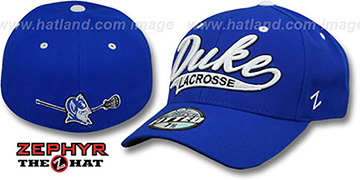 Duke SWOOP LACROSSE Royal Fitted Hat by Zephyr
