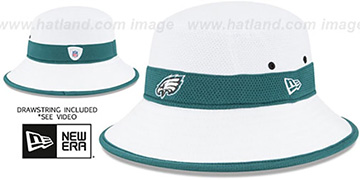 Eagles '2015 NFL TRAINING BUCKET' White Hat by New Era