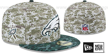 Eagles '2015 SALUTE-TO-SERVICE' Desert-Green Fitted Hat by New Era