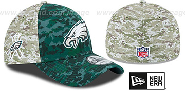 Eagles '2015 SALUTE-TO-SERVICE' Desert-Green Flex Hat by New Era