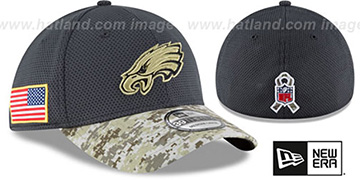 Eagles '2016 SALUTE-TO-SERVICE FLEX' Grey-Desert Hat by New Era