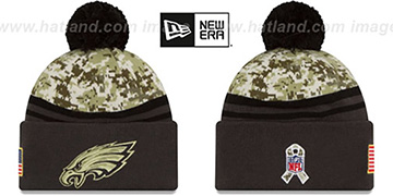 Eagles '2016 SALUTE-TO-SERVICE' Knit Beanie Hat by New Era