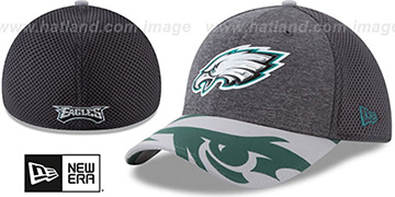 Eagles 2017 NFL ONSTAGE FLEX Charcoal Hat by New Era
