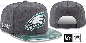 Eagles 2017 NFL ONSTAGE SNAPBACK Charcoal Hat by New Era
