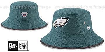 Eagles '2017 NFL TRAINING BUCKET' Green Hat by New Era
