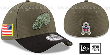 Eagles '2017 SALUTE-TO-SERVICE FLEX' Green-Black Hat by New Era