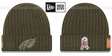 Eagles '2017 SALUTE-TO-SERVICE' Knit Beanie Hat by New Era
