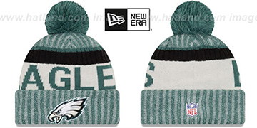 Eagles '2017 STADIUM BEANIE' Green Knit Hat by New Era
