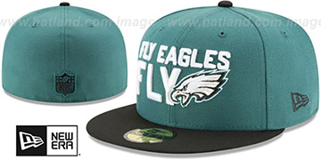 Eagles 2018 SPOTLIGHT Green-Black Fitted Hat by New Era