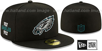 Eagles 2020 NFL VIRTUAL DRAFT Black Fitted Hat by New Era