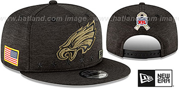 Eagles 2020 SALUTE-TO-SERVICE SNAPBACK ST Black Hat by New Era