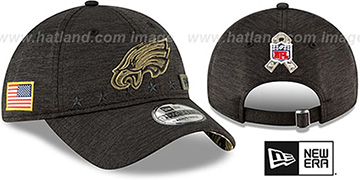 Eagles 2020 SALUTE-TO-SERVICE STRAPBACK ST Black Hat by New Era